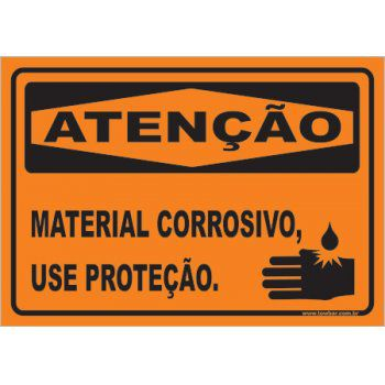 Material Corrosivo, Use Proteção  - Towbar Sinalização de Segurança