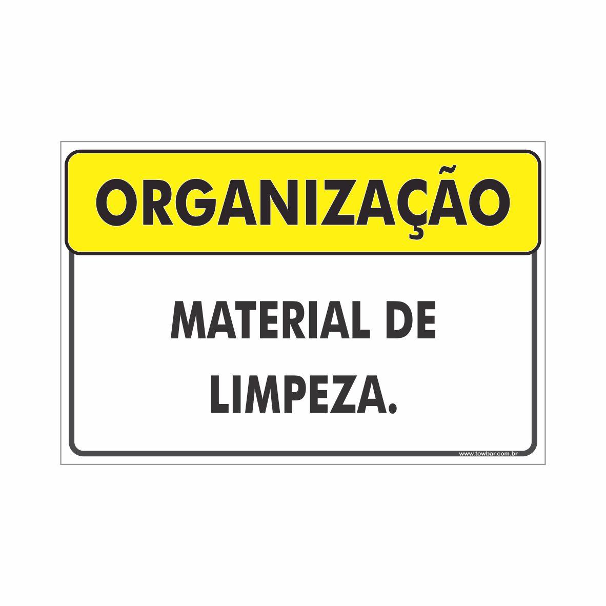 Material de limpeza  - Towbar Sinalização de Segurança