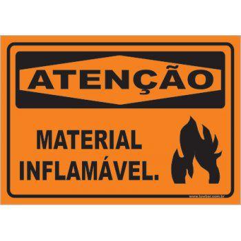 Material Inflamável  - Towbar Sinalização de Segurança