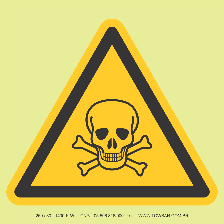 Material Tóxico  - Towbar Sinalização de Segurança