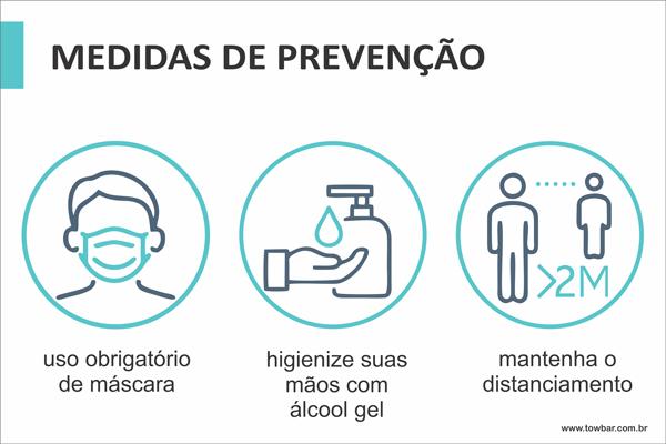 Medidas de Prevenção  - Towbar Sinalização de Segurança