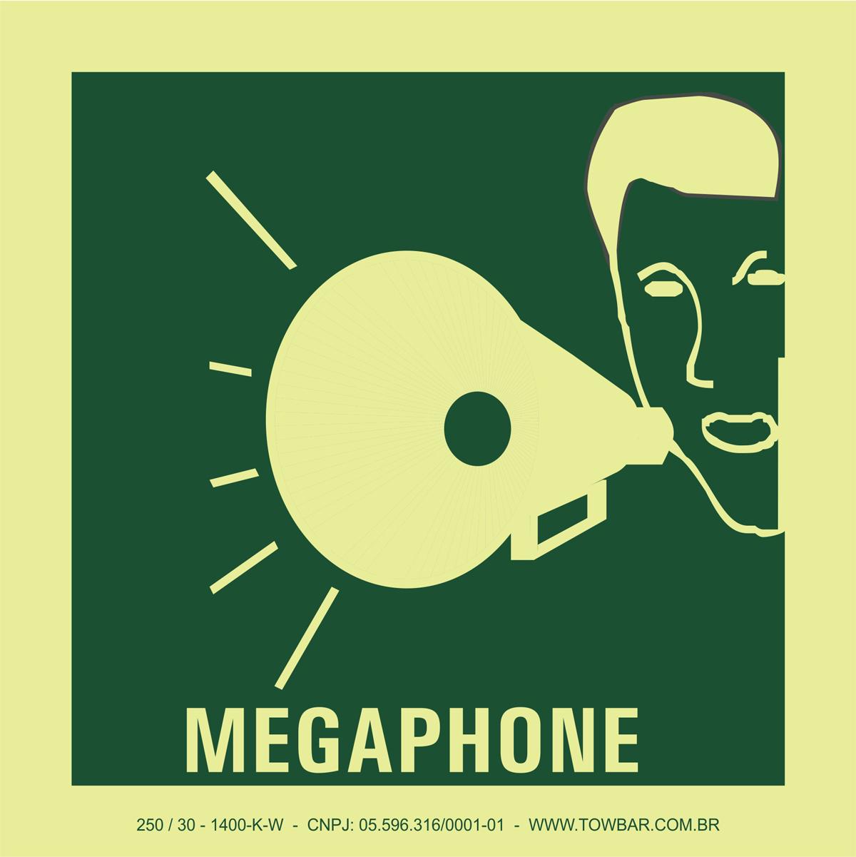 Megaphone  - Towbar Sinalização de Segurança