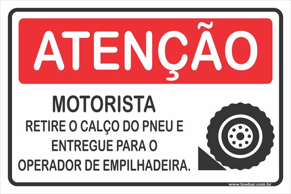 Motoristas Retire a Cunha do Pneu  - Towbar Sinalização de Segurança