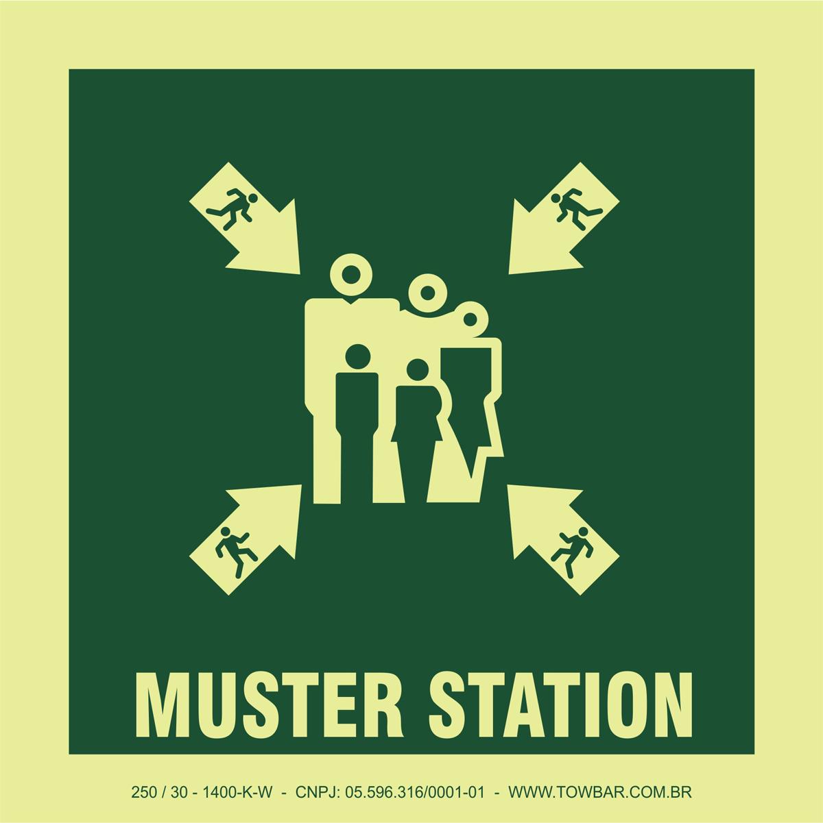 Muster Station  - Towbar Sinalização de Segurança