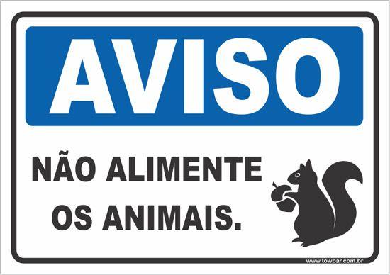 Não Alimente Os Animais  - Towbar Sinalização de Segurança