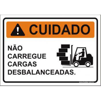Não carregue cargas desbalanceadas   - Towbar Sinalização de Segurança