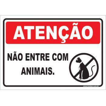 Não Entre Com Animais  - Towbar Sinalização de Segurança
