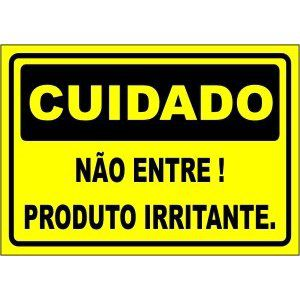 Não entre! produto irritante  - Towbar Sinalização de Segurança
