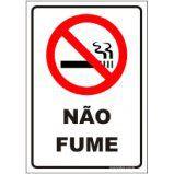 Não fume  - Towbar Sinalização de Segurança