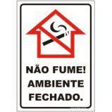 Não fume ambiente fechado  - Towbar Sinalização de Segurança