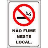 Não fume neste local  - Towbar Sinalização de Segurança
