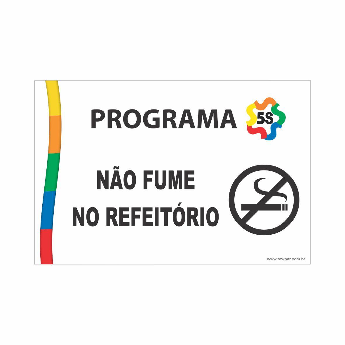 Não fume no refeitório  - Towbar Sinalização de Segurança