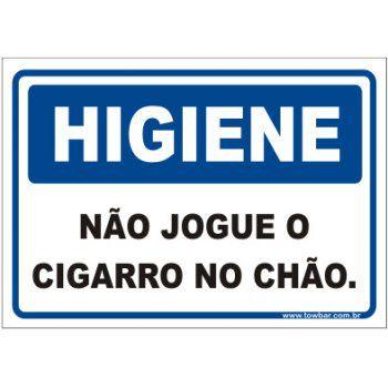 Não jogue o cigarro no chão  - Towbar Sinalização de Segurança