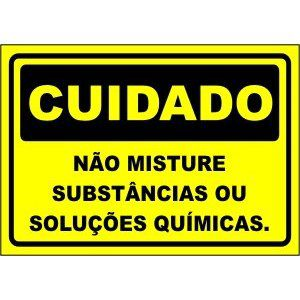 Não Misture Substâncias Ou Soluções Químicas  - Towbar Sinalização de Segurança