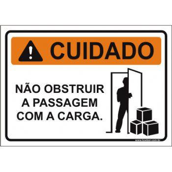 Não obstruir a passagem com a carga  - Towbar Sinalização de Segurança
