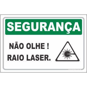 Não Olhe Raio Laser  - Towbar Sinalização de Segurança