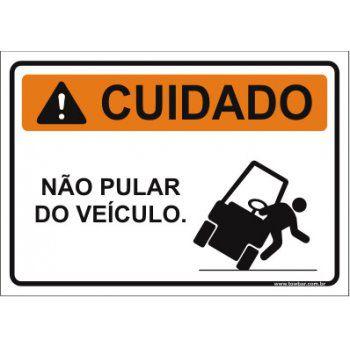 Não pular do veículo  - Towbar Sinalização de Segurança