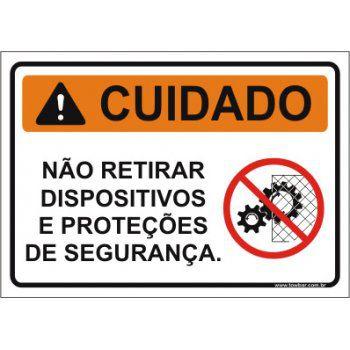 Não retirar dispositivos e proteções de segurança  - Towbar Sinalização de Segurança