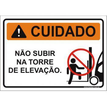 Não subir na torre de elevação  - Towbar Sinalização de Segurança