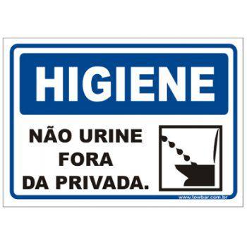Não Urine Fora da Privada  - Towbar Sinalização de Segurança