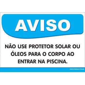 Não Use Protetor Solar Ou Óleo Para o Corpo  - Towbar Sinalização de Segurança