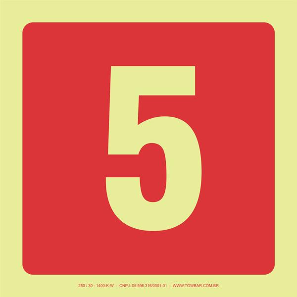 Número 5  - Towbar Sinalização de Segurança