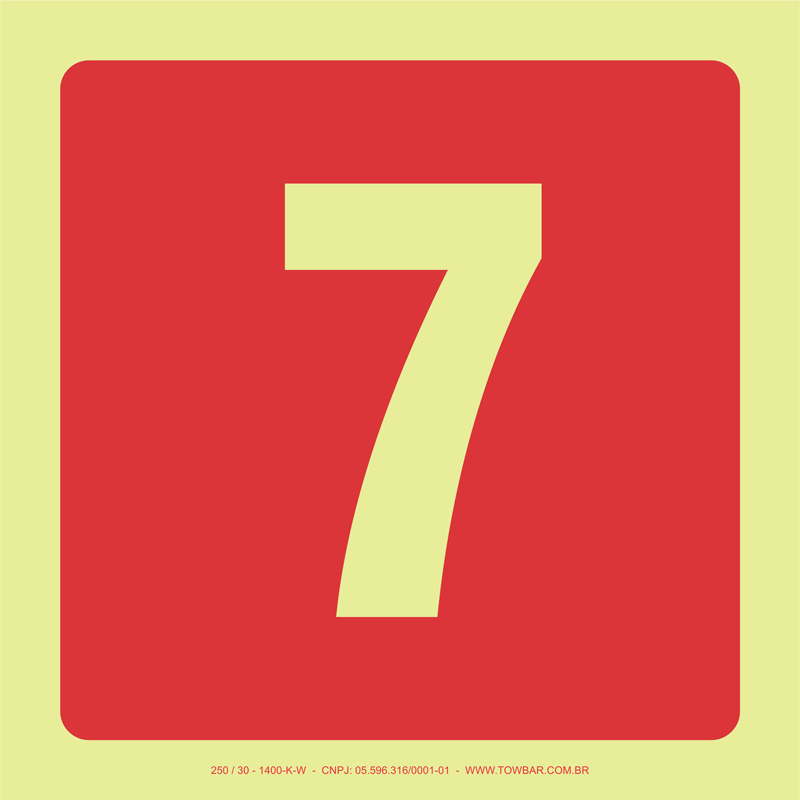 Número 7  - Towbar Sinalização de Segurança