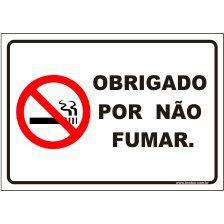 Obrigado por não fumar  - Towbar Sinalização de Segurança