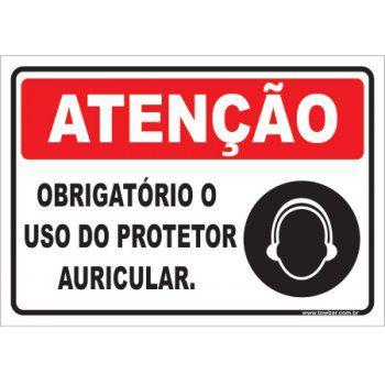 Obrigatório o Uso de Protetor Auricular  - Towbar Sinalização de Segurança