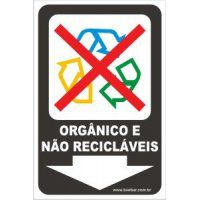 Orgânico e Não Recicláveis  - Towbar Sinalização de Segurança