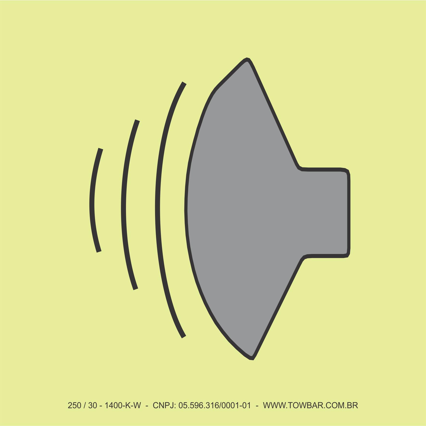 PA Speakers for Alarms and Informations   - Towbar Sinalização de Segurança
