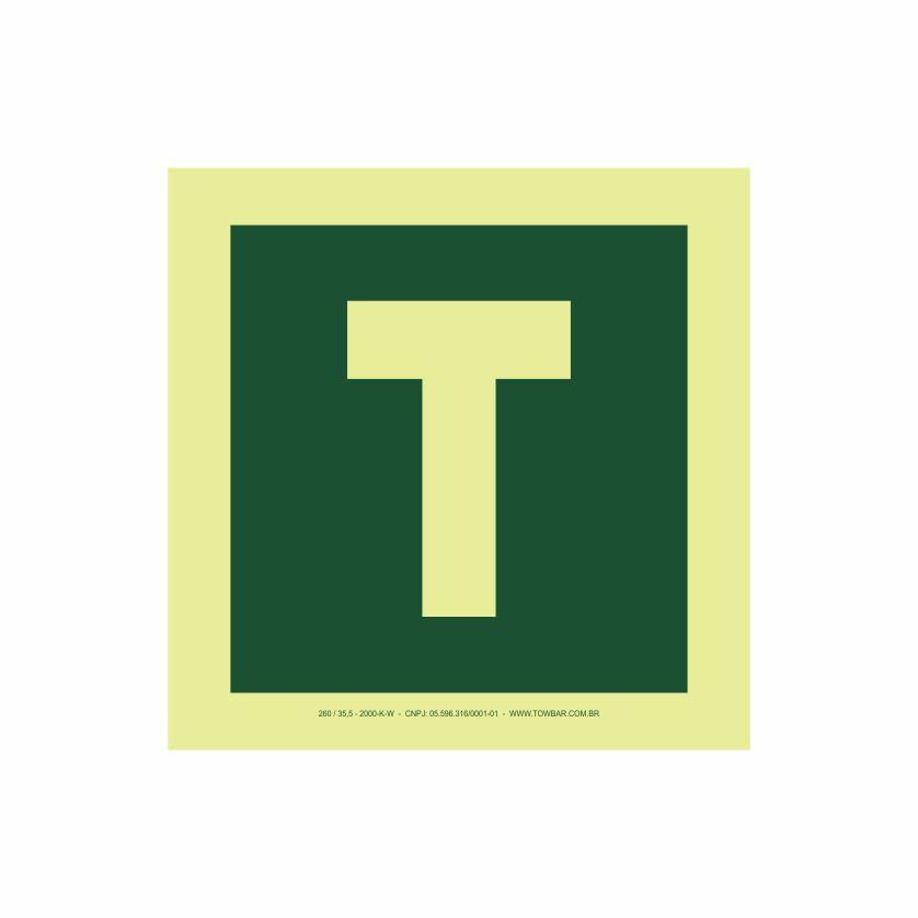 Pavimento térreo  - Towbar Sinalização de Segurança