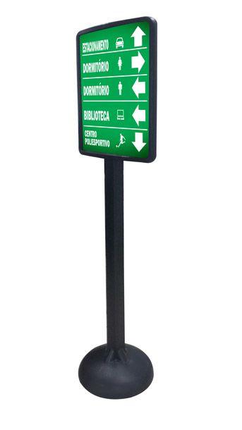 Pedestal plástico móvel grande  - Towbar Sinalização de Segurança