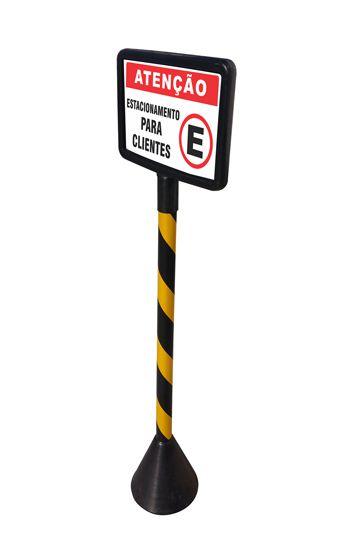 Pedestal plástico móvel pequeno  - Towbar Sinalização de Segurança