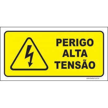Perigo alta tensão  - Towbar Sinalização de Segurança
