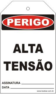 Perigo - Alta tensão  - Towbar Sinalização de Segurança