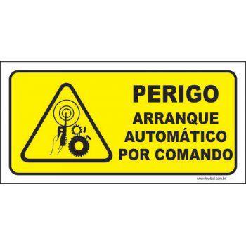 Perigo arranque automático por comando  - Towbar Sinalização de Segurança
