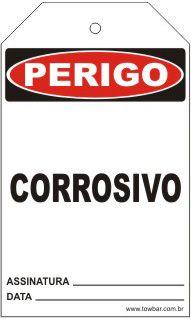Perigo - Corrosivo  - Towbar Sinalização de Segurança