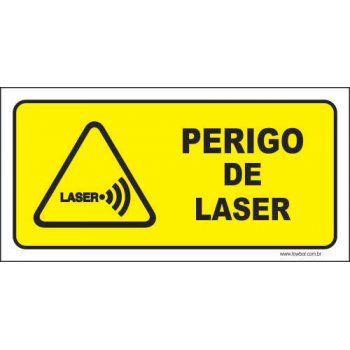 Perigo de Laser  - Towbar Sinalização de Segurança