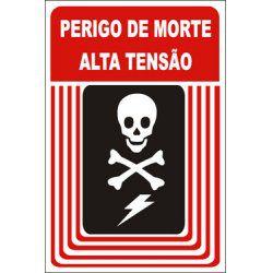 perigo de morte alta tensão  - Towbar Sinalização de Segurança