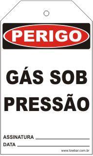 Perigo - Gás sob pressão  - Towbar Sinalização de Segurança