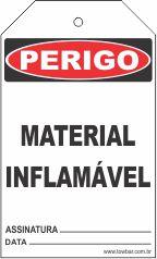 Perigo - Material inflamável  - Towbar Sinalização de Segurança