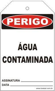 Perigo - Não opere água contaminada  - Towbar Sinalização de Segurança