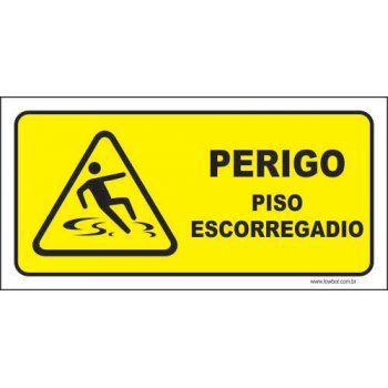 Perigo piso escorregadio  - Towbar Sinalização de Segurança