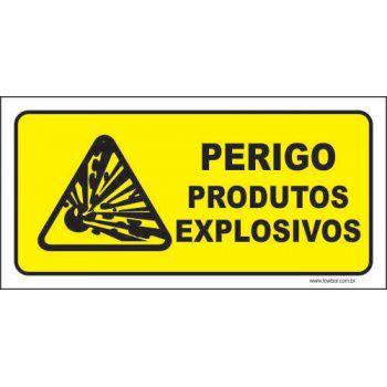 Perigo produtos explosivos  - Towbar Sinalização de Segurança
