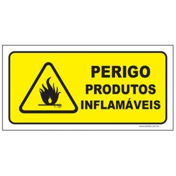 Perigo produtos inflamáveis  - Towbar Sinalização de Segurança