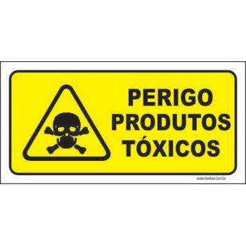 Perigo produtos tóxicos  - Towbar Sinalização de Segurança