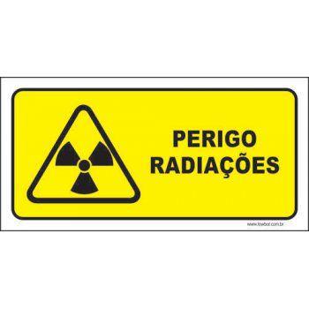 Perigo radiações  - Towbar Sinalização de Segurança