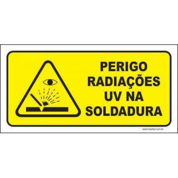 Perigo radiações uv na soldura  - Towbar Sinalização de Segurança