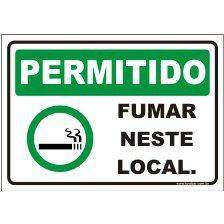 Permitido fumar neste local  - Towbar Sinalização de Segurança